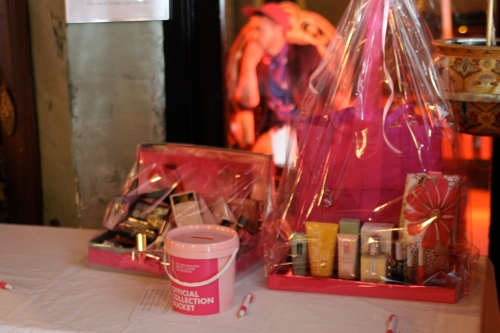 Lovely gift baskets from the silent auction