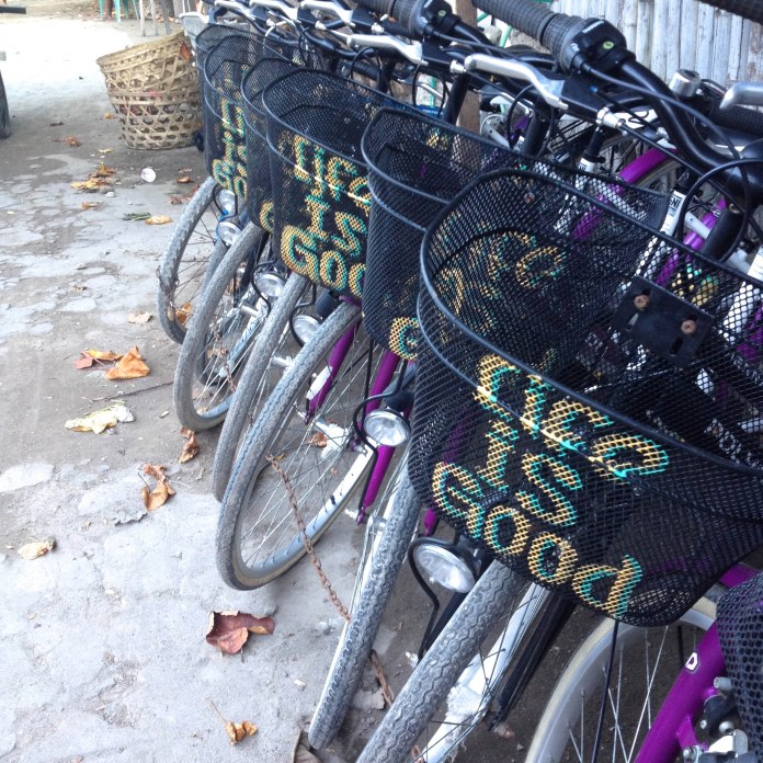 Spread the positivity with these groovy bicycles (someone should rent these out on Ponsonby Road or Cuba Street)