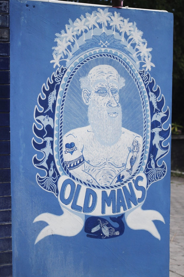 The famous Old Mans – don't leave seminyak without checking out this place. It's a huge open plan lounge bar and chippy – but traditionally know for their beautiful blue murals.