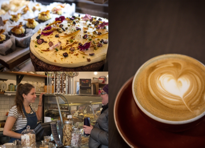 They also have a fantastic selection of fresh, tasty cabinet food available and excellently made Allpress coffee.