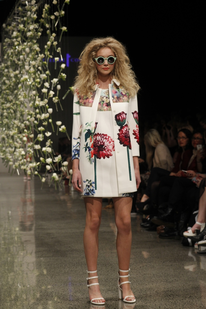 The COOPER white floral dress and overcoat was my pick of the show.