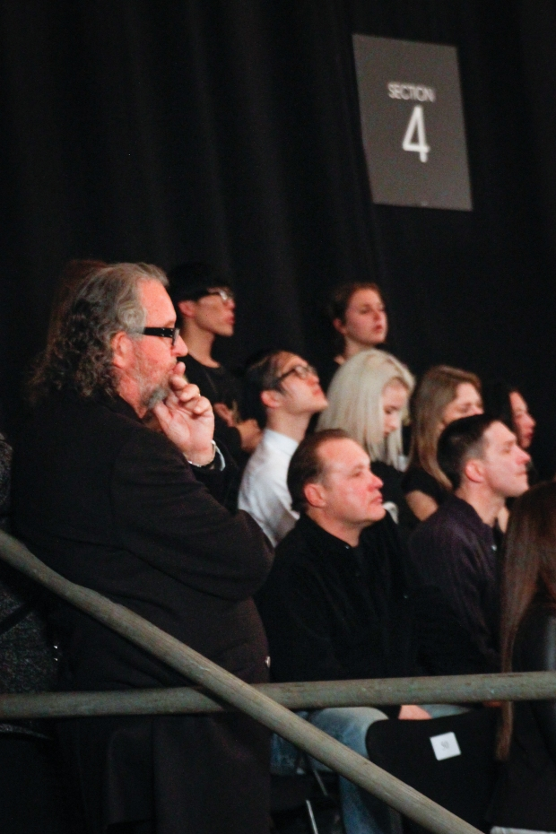 Neville Findlay in the audience. I loved watching his reactions to their Zambesi Collection, observing from a distance.