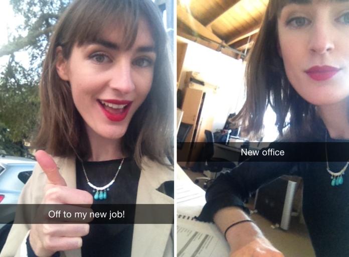 Gotta love a sneaky work selfie // Snapchat: olivia.round