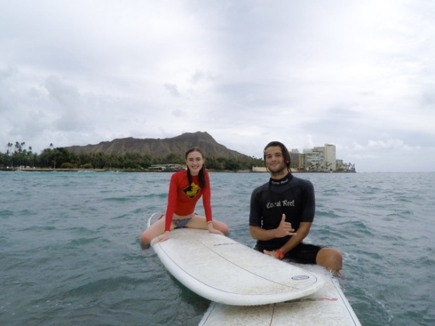 Photo of us surfing